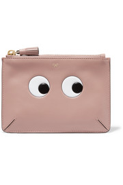 Anya Hindmarch Eyes Loose Pocket small embossed leather pouch