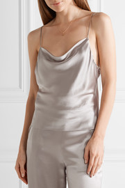 Draped silk-charmeuse camisole