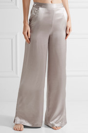 Silk-charmeuse pajama pants