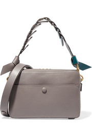 Anya Hindmarch Triple Stack color-block leather shoulder bag