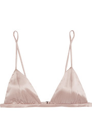 Stretch-silk soft-cup triangle bra