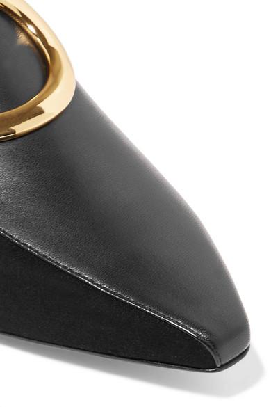 Verkauf Komfortabel Neous Verzierte Slippers aus Leder und Veloursleder Freies Verschiffen Kauf Für Billig Zu Verkaufen 0qz4FEGb