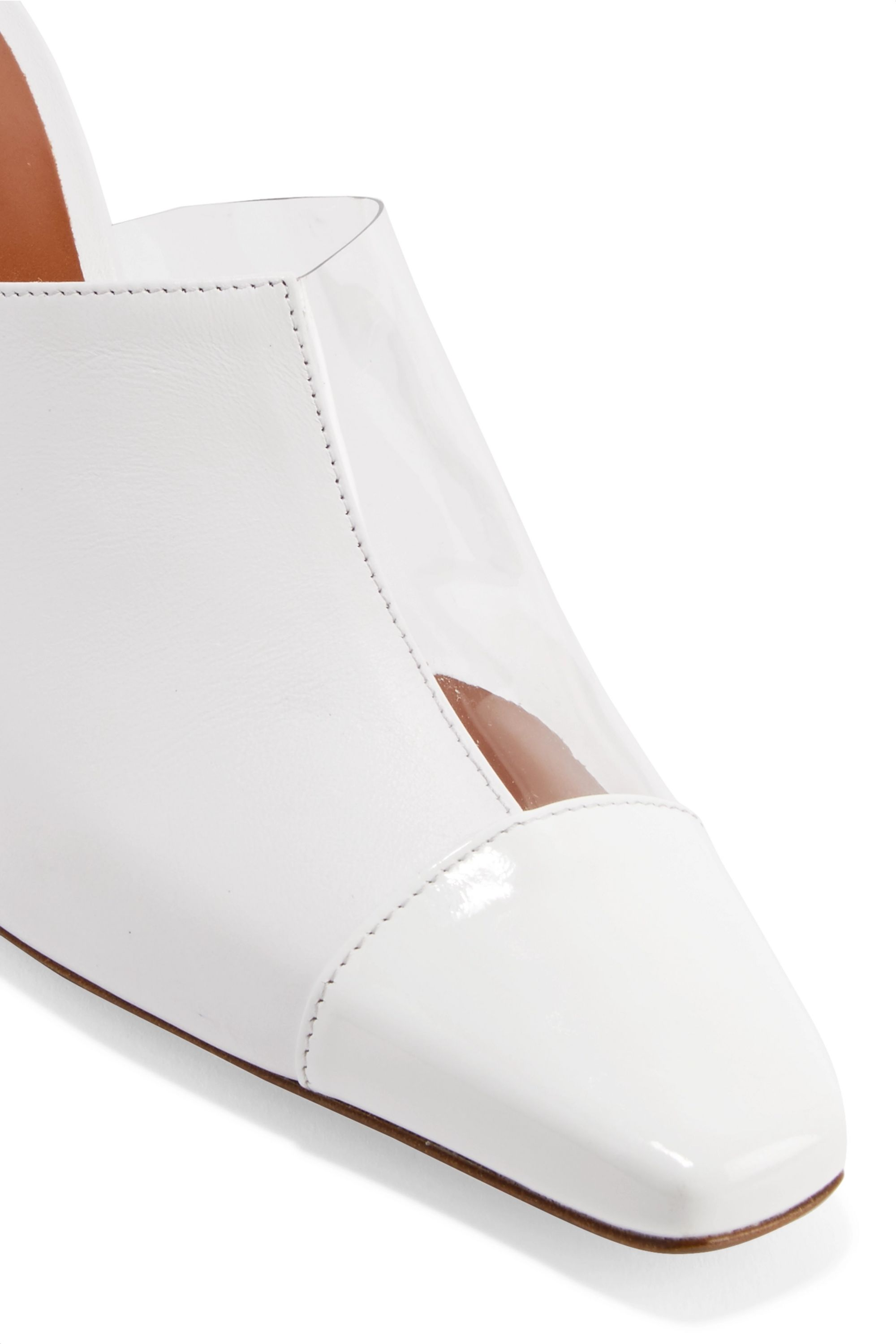 Neous Paneled leather and Perspex mules