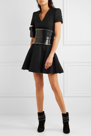Alexander McQueen Leaf crepe mini dress