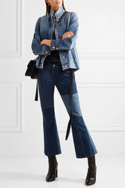 Alexander McQueen Layered denim peplum jacket