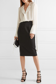 Grain de poudre wool pencil skirt