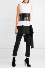 Alexander McQueen Draped cotton-poplin top