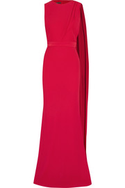 Alexander McQueen Draped cutout crepe gown