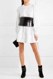 Alexander McQueen Gathered cotton-poplin mini dress
