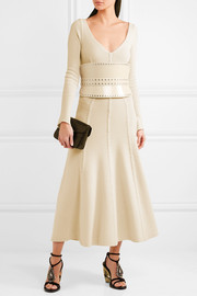 Alexander McQueen Ribbed wool-blend midi dress