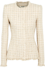 Alexander McQueen Metallic tweed jacket