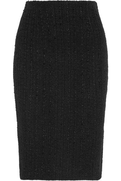 Alexander McQueen - Frayed Tweed Skirt - Black
