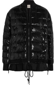 Moncler Lucy quilted patent-shell down jacket