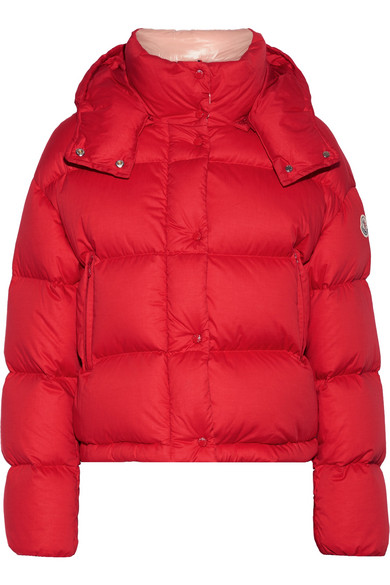 Moncler - Paeonia Quilted Cotton-canvas Down Coat - Red