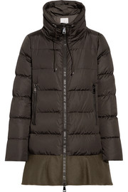 Moncler Viburnum wool blend-trimmed quilted down coat