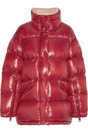 Moncler Callis quilted glossed-shell down coat