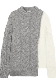 Moncler Two-tone cable-knit sweater