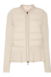Moncler Quilted knitted cardigan