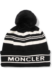 Striped intarsia wool beanie