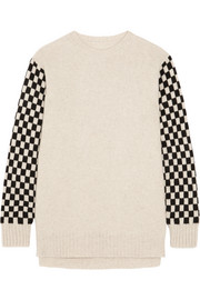 The Elder Statesman Checked cashmere sweater