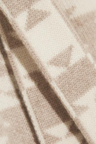 The Elder Statesman Dazzler Cardigan aus Kaschmir mit Intarsienmuster und Gürtel Billig Erstaunlicher Preis Freies Verschiffen Preiswerte Reale Spielraum Shop Online-Verkauf VVTSAz6n