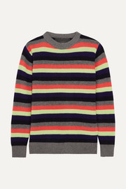 The Elder Statesman Striped cashmere sweater