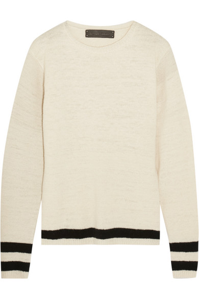 The Elder Statesman - Flaco Striped Cashmere Sweater - Cream