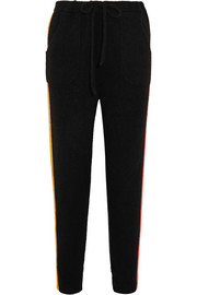 The Elder Statesman Gofa striped cashmere track pants