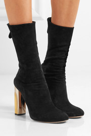 Alexander McQueen Embellished suede ankle boots