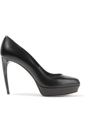 Alexander McQueen Leather platform pumps