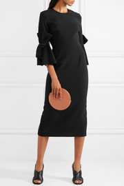Lavette crepe bow-embellished midi dress