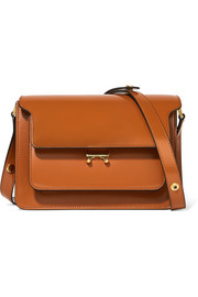 Trunk patent-leather shoulder bag
