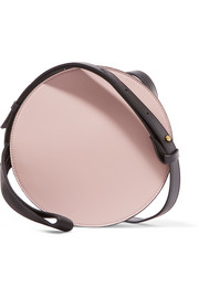 Tambourine color-block leather shoulder bag