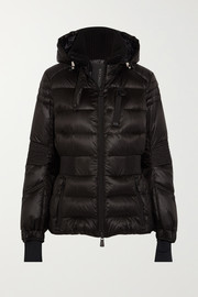 Roncevaux hooded quilted shell down ski jacket