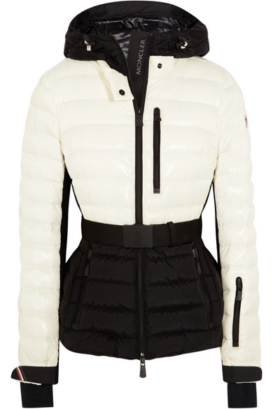 7130d23610 Moncler Grenoble. Bruche belted two-tone quilted ski jacket