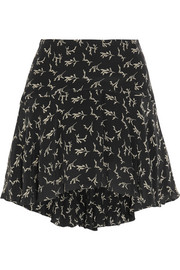 Frikette printed silk mini skirt