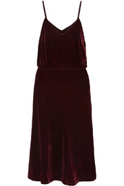 Graziella velvet midi dress