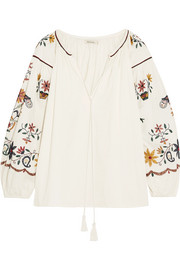 Hansel embroidered cotton blouse
