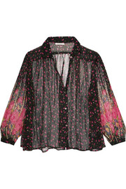Darcy floral-print chiffon blouse