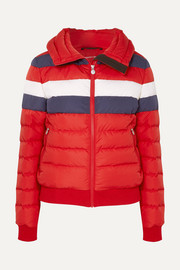 Queenie color-block quilted down jacket