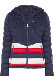 Vale hooded quilted down ski jacket