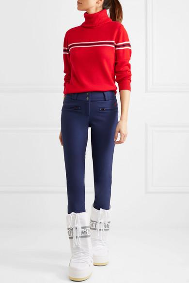 Perfect Moment | Orelle striped merino wool turtleneck sweater ...