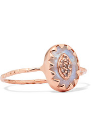 Montauk 9-karat rose gold, moonstone and diamond ring