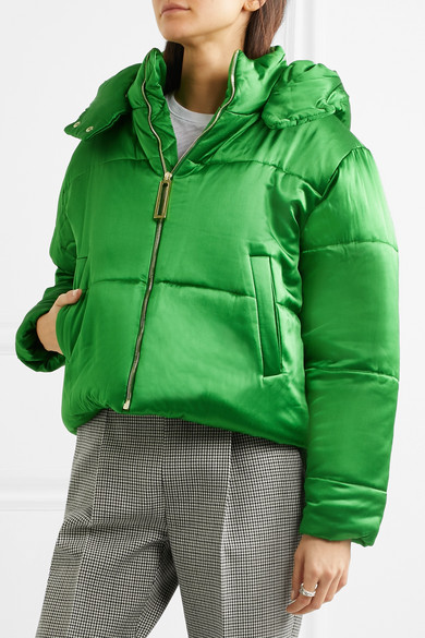 55224bd3eb86f Olivia von Halle | Stella hooded quilted silk-satin jacket | NET-A ...