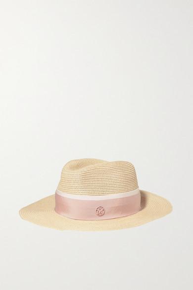 33e896fe Maison Michel | Henrietta grosgrain-trimmed straw hat | NET-A-PORTER.COM