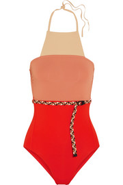 Eres + Véronique Leroy belted halterneck swimsuit