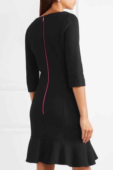 Stretch-knit Peplum Mini Dress - Black Moschino oKTUuN