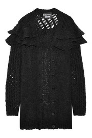 Boutique Moschino Oversized ruffled knitted cardigan