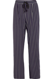 Striped stretch-modal jersey pajama pants