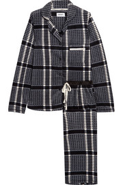 DKNY Fierce Chills checked fleece pajama set
